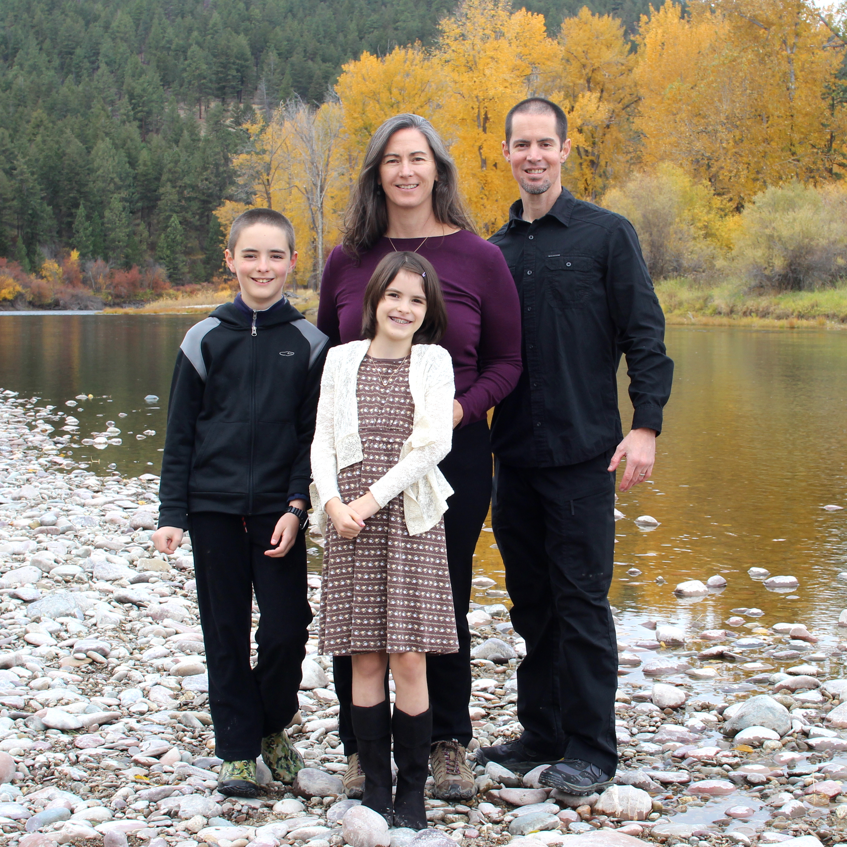 Daniel with his wife, Nyss, and two children, Kaelan and Vivian.
