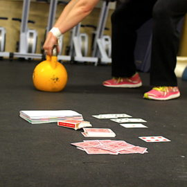 Hit the deck: Workouts using a deck of cards