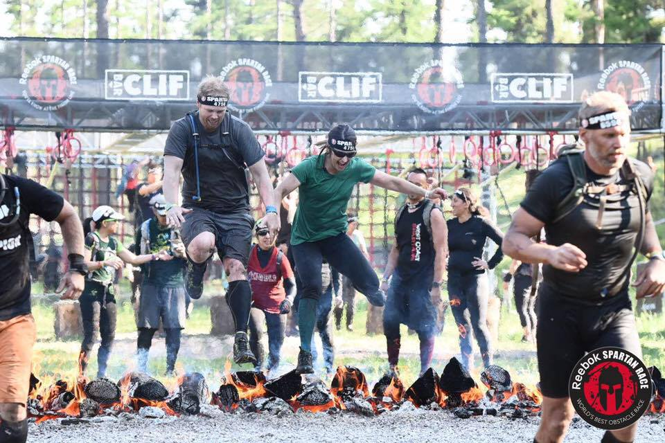 Sara and Scott completing the Spartan Beast