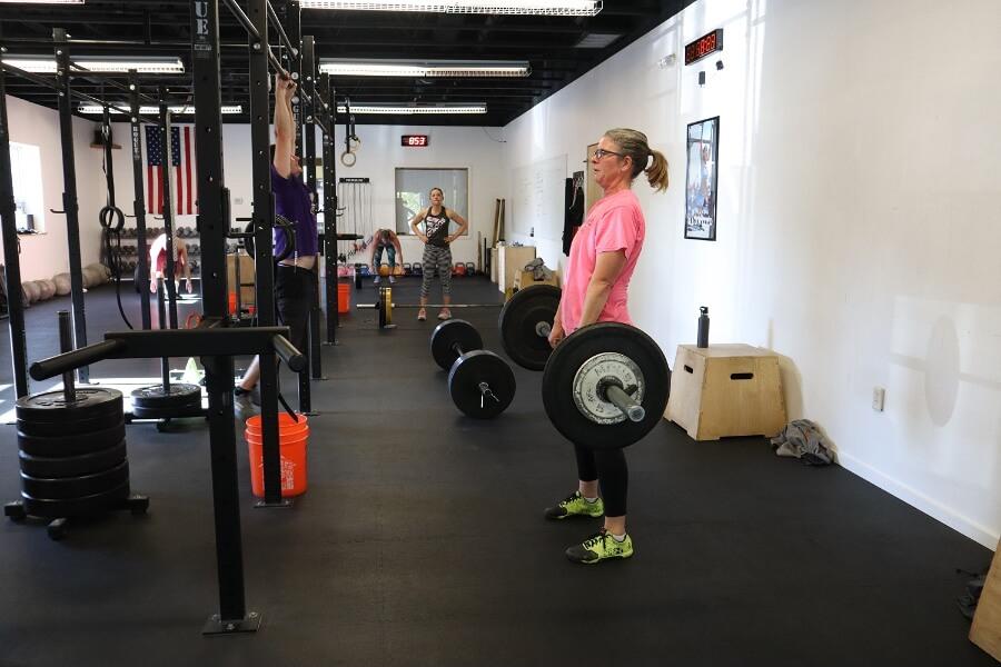 Laura deadlifting CrossFit Missoula