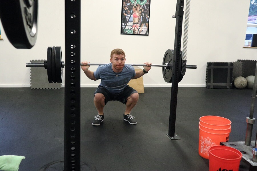 Robby back squatting