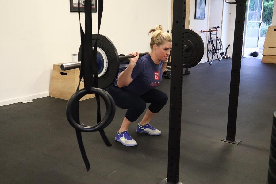 Terra back squatting heavy