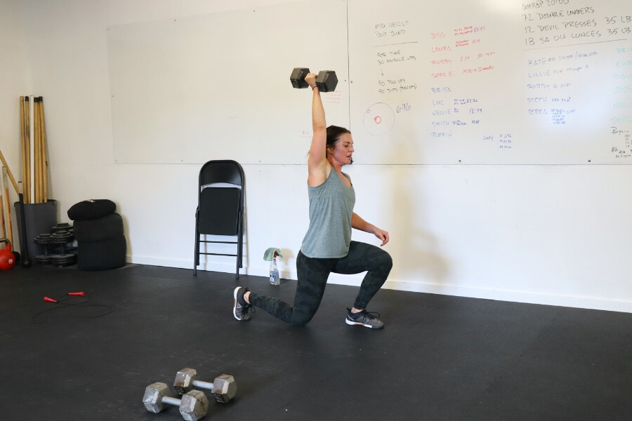 Sara overhead lunges